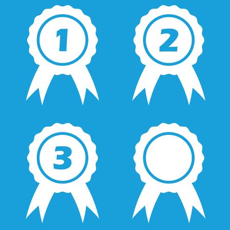 Prize icon set Vector