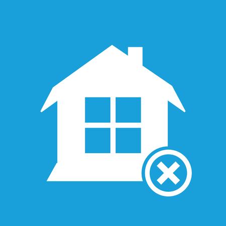 Remove house symbol Illustration