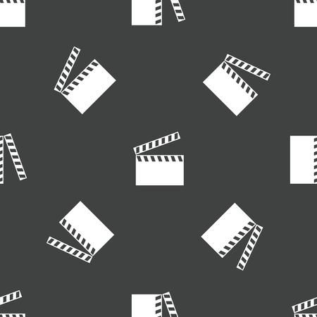 cinematograph: Clapperboard pattern Illustration