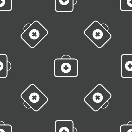 erste hilfe koffer: Erste-Hilfe-Kit Muster Illustration