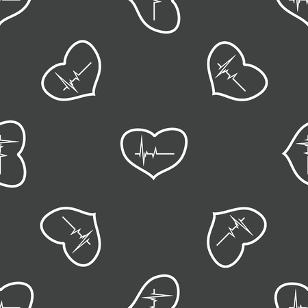 cardiogram: Heart with cardiogram pattern