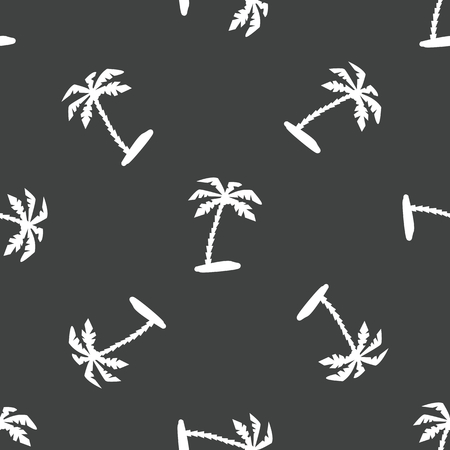 sihlouette: Palm tree pattern