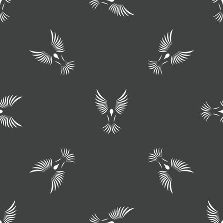 wing span: Bird contour pattern