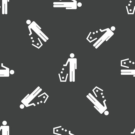 littering: No littering sign pattern