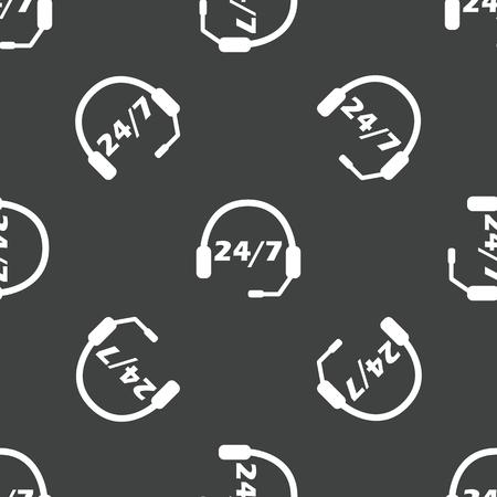 center: Call center pattern Illustration