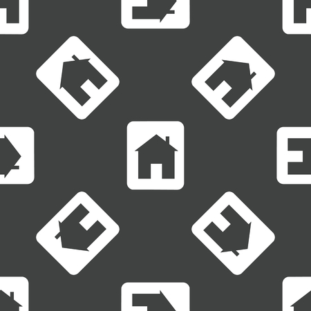 housetop: Card with house pattern