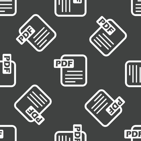 extention: Pdf file pattern Illustration