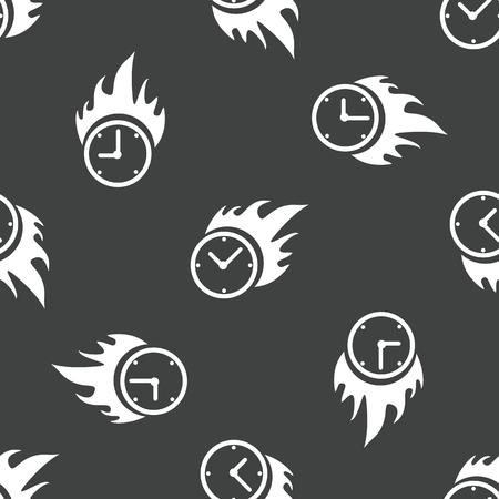 Burning clock pattern Vector