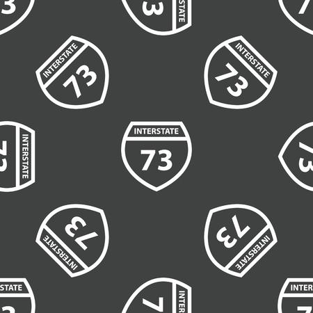 interstate: Sign Interstate 73 pattern Illustration