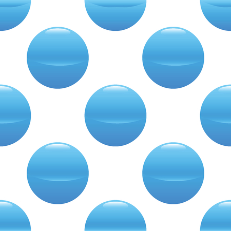 blue ball: Vector image of blue ball repeated on white background