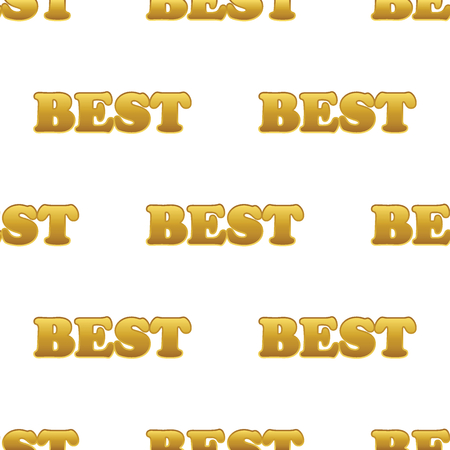 finest: Vector word BEST repeated on white background