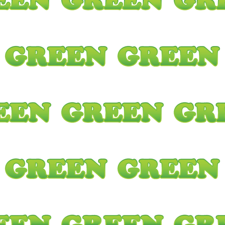 verdant: Vector word GREEN repeated on white background Illustration