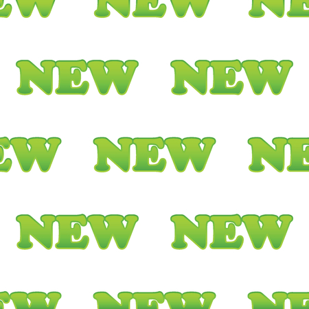 newness: Vector green word NEW repeated on white background Illustration
