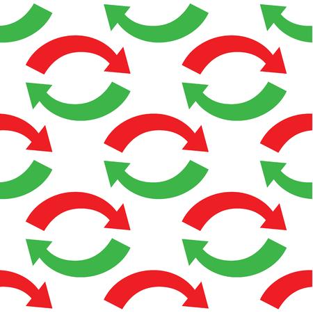 oppos: Deux fl�ches oppos�es courbes r�p�t�es sur fond blanc