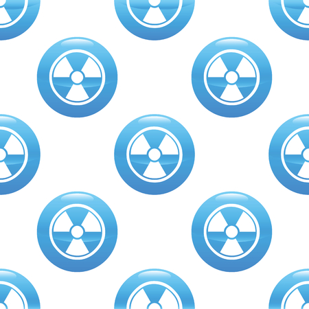 Round sign with radiohazard symbol repeated on white background Vector