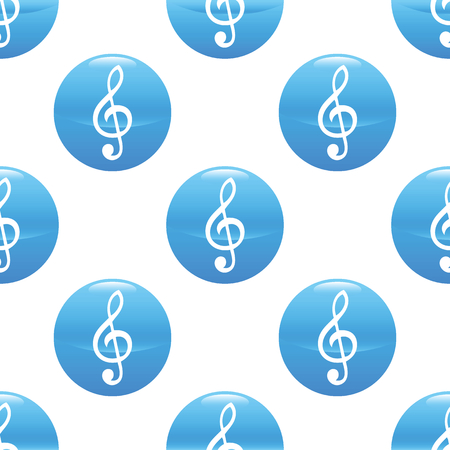 Treble clef sign pattern Vector