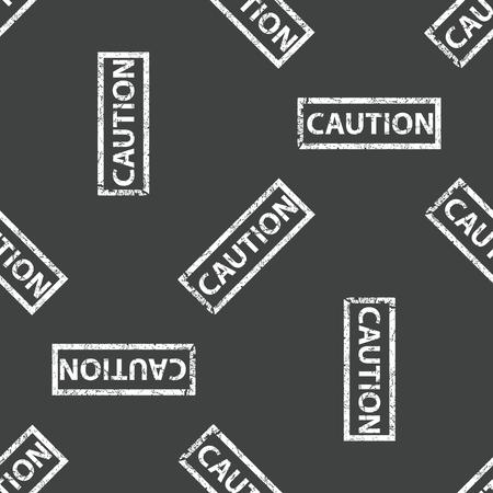 carefulness: Rubber stamp CAUTION pattern Illustration