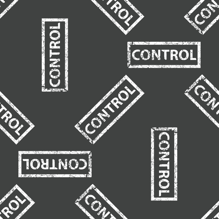 Rubber stamp CONTROL pattern Vector