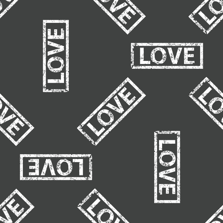 love stamp: Stamp with text LOVE repeated on grey background Illustration