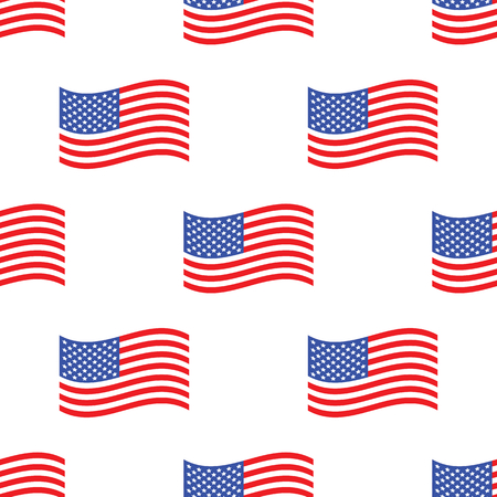 American flag pattern Vector
