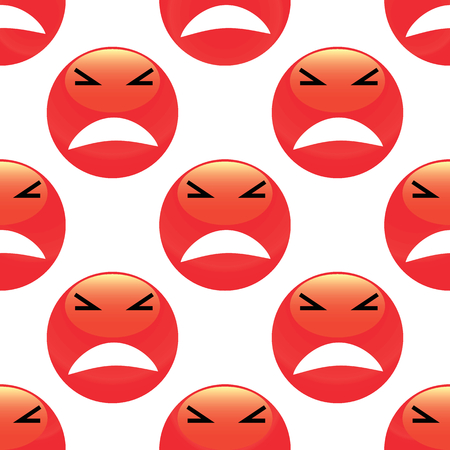 enraged: Angry emoticon pattern Illustration