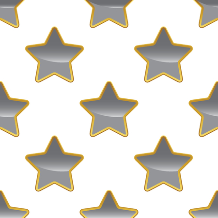 achievement clip art: Grey star pattern Illustration