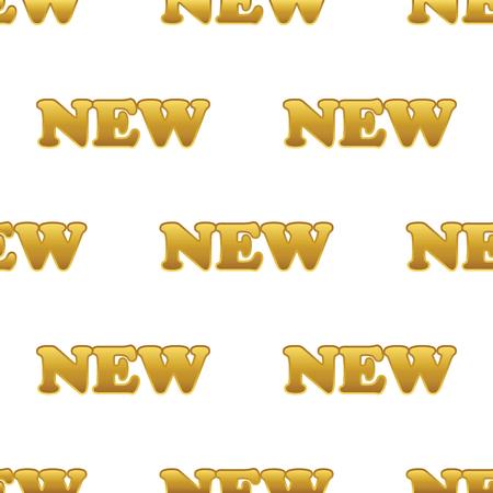 newness: Golden word NEW pattern