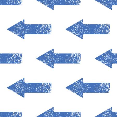 Blue left arrow pattern Vector