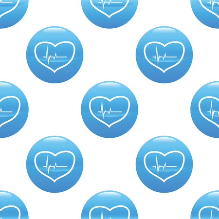 Beating heart sign pattern Vector