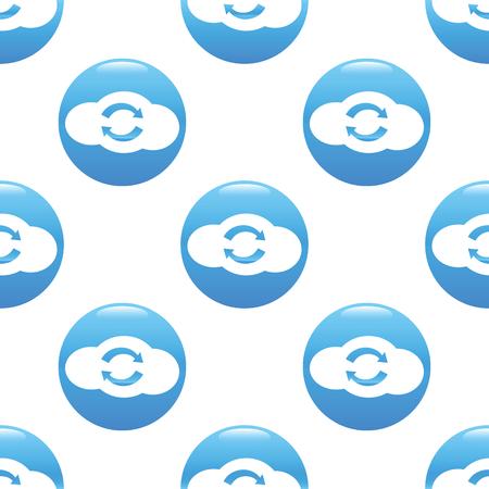 synchronization: Cloud synchronization sign pattern