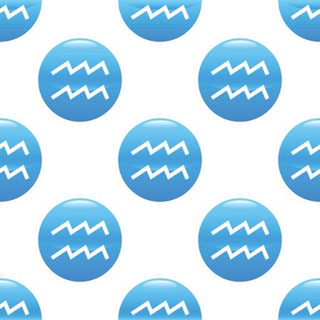 Aquarius sign pattern Illustration