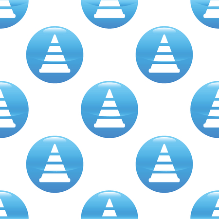 redirect: Traffic cone sign pattern Illustration