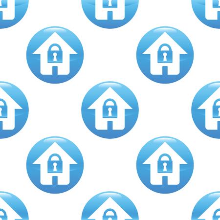 locked: Locked house sign pattern