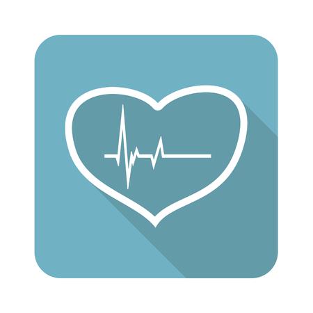 beating: Beating heart icon Illustration