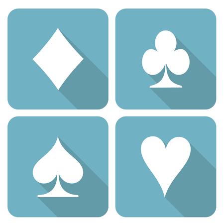 Card symbols icon set Vector
