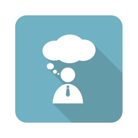 denkender mensch: Thinking Person icon Illustration
