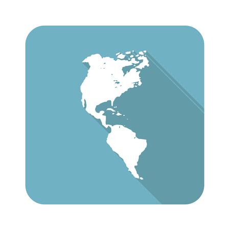 continente americano: Icono continente americano