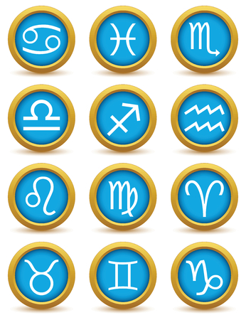 Zodiac icon set Vector