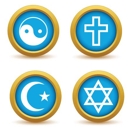 simbolos religiosos: Los s�mbolos religiosos conjunto de iconos