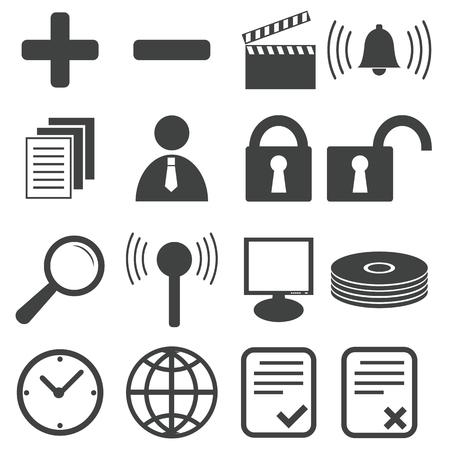 Simple black icon set 9 Vector