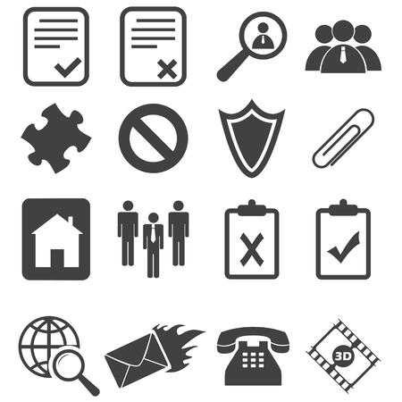 Simple black icon set 14 Vector