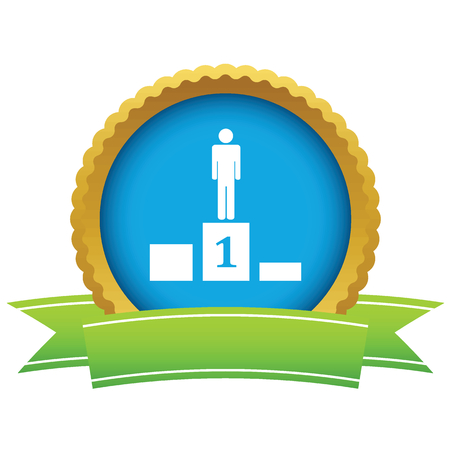 Person on pedestal icon