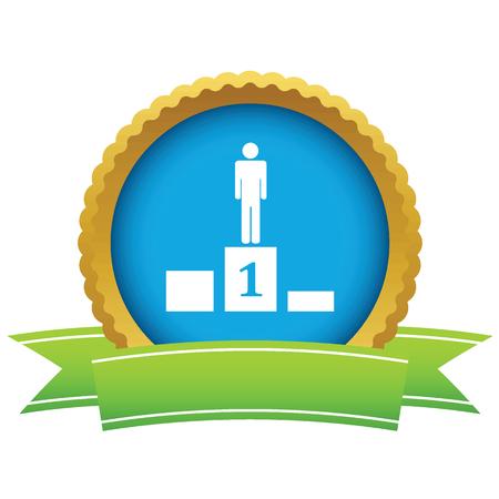 Person on pedestal icon Illustration