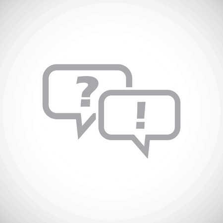 Answering question icon Illustration