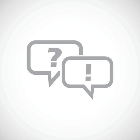 Answering question icon Ilustração
