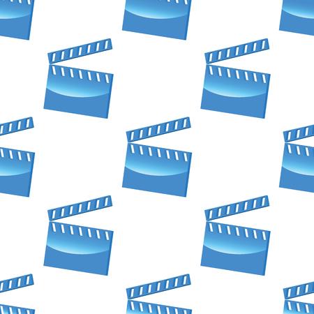 clapperboard: Blue clapperboard pattern