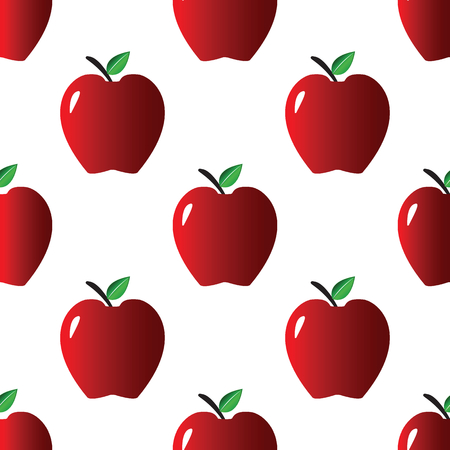 rich in vitamins: Red apple pattern Illustration