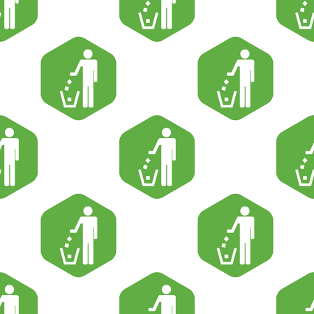 six web website: Recycle sign pattern
