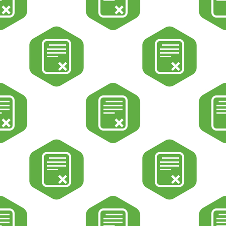 denial: Declined document pattern Illustration