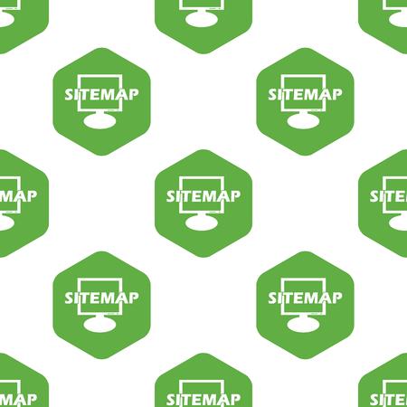 six web website: Sitemap pattern Illustration